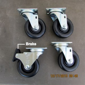 Casters for Garden Tower Project