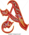 Letter A red and very artistic
