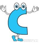 letter C cartoon alphabet