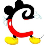 Letter C as Mickey Mouse