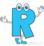 letter R cartoon alphabet clipart