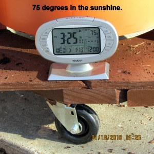 Temperature at three-twenty-five