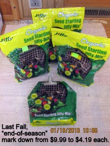 Seed starting Jiffy-Mix