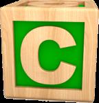 Letter C as child's building block (best)
