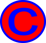 Letter C red and blue