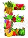 Letter E as fruit