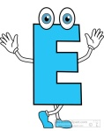 letter E cartoon alphabet clipart