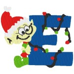 Letter E with elf