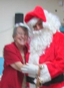 Lorraine with Santa 2015