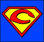 Letter C with Superman logo