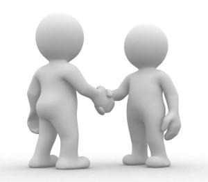 Handshake (1) gray-blue color