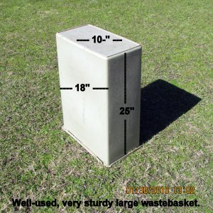 Large wastebasket