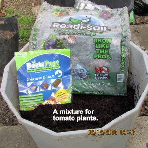 Soil for tomato planter