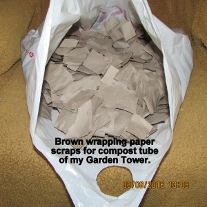 Pieces of brown wrapping paper