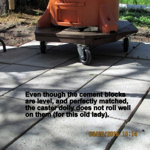 Cement paving blocks