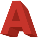 Letter A in bold red