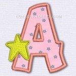 Letter A in pink