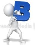 Letter B white stick figure (2)