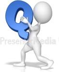 Letter Q white stick figure