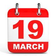 March 19 calendar