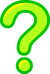 Question mark in green color