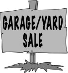 Yard garage sale sign