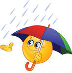 Catching-Rain-In-His-Hand-And-Holding-An-Umbrella-Royalty-Free-Vector-Illustration