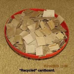 Cutting up cardboard (2)