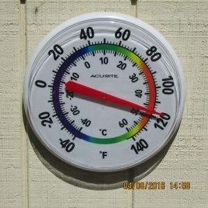 Thermometer says one twenty