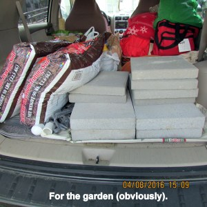 Car load for the garden