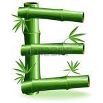 Letter E green bamboo