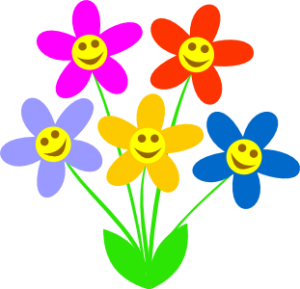 Happy face flowers