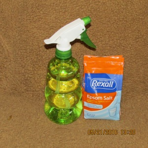 Epsom salt and spray bottle
