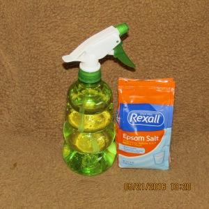 Epsom salt and spray bottle