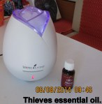 Thieves Essential Oil and diffuser