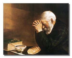 Praying over a loaf of bread