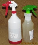 Spray bottles of insecticide