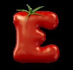 Letter E as a tomato