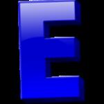 Letter E bold color