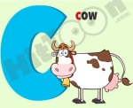 Letter C with cow